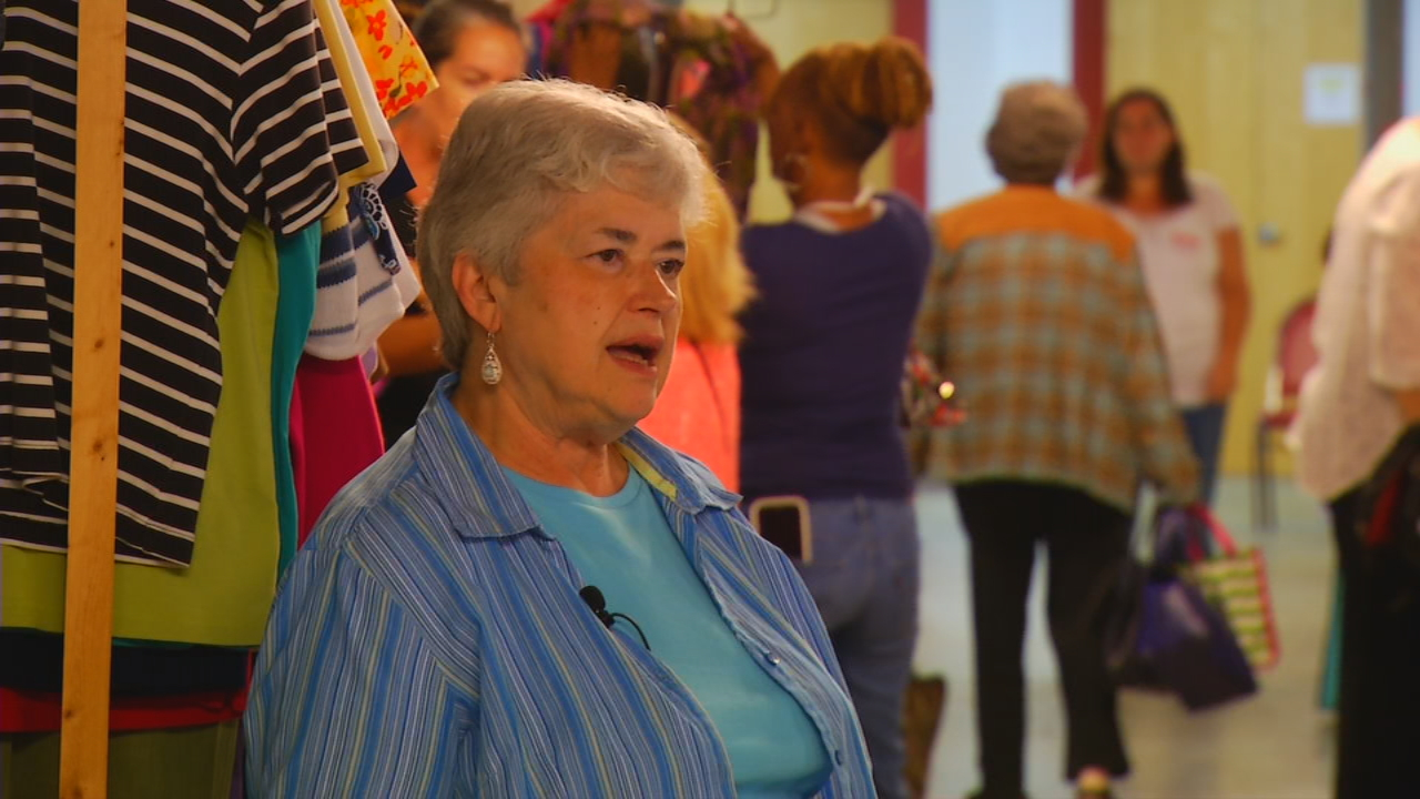 Edwina Messer is the organizer of the annual Queen for a Day Banquet at First Baptist Church of Swannanoa. It's a program intended to empower woman from local shelters. (Photo credit: WLOS Staff)