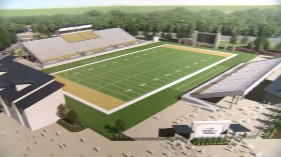 East Cooper people voiced concerns to Charleston County School District officials Wednesday night over plans to build an $18 million stadium facility at Carolina Park (Jason Tighe/WCIV)