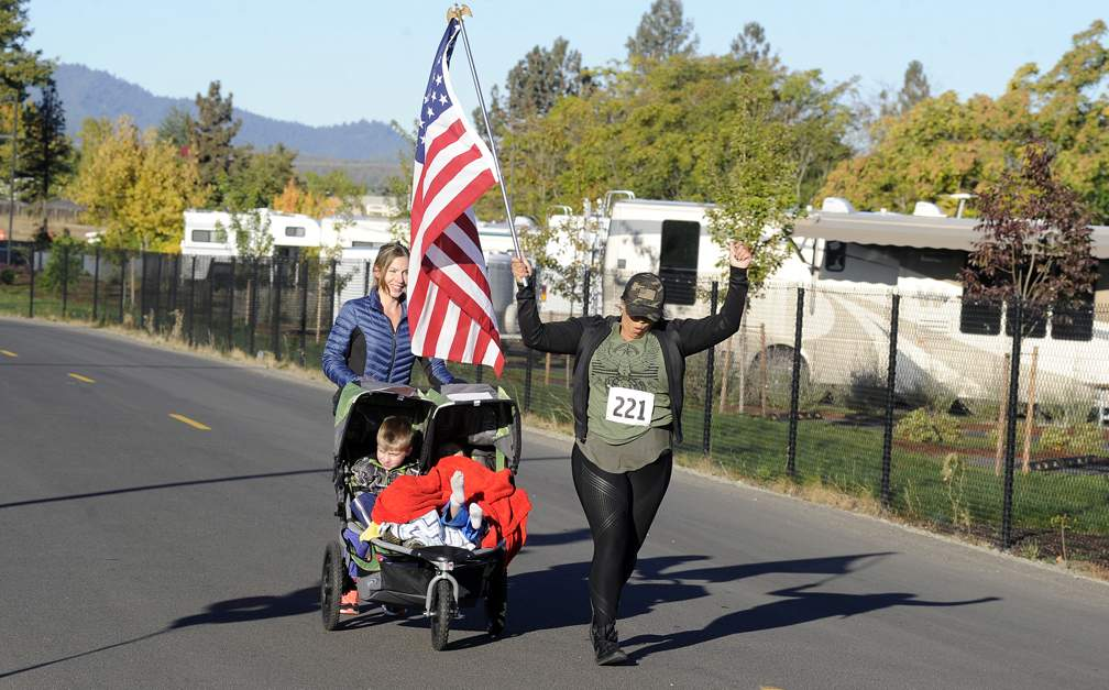 The 1st Annual veteRUN 5K at the Jackson County Expo 10-14-17, a fun-filled event built on the mission of helping veterans gain access to resources and mental health services. - Andy Atkinson
