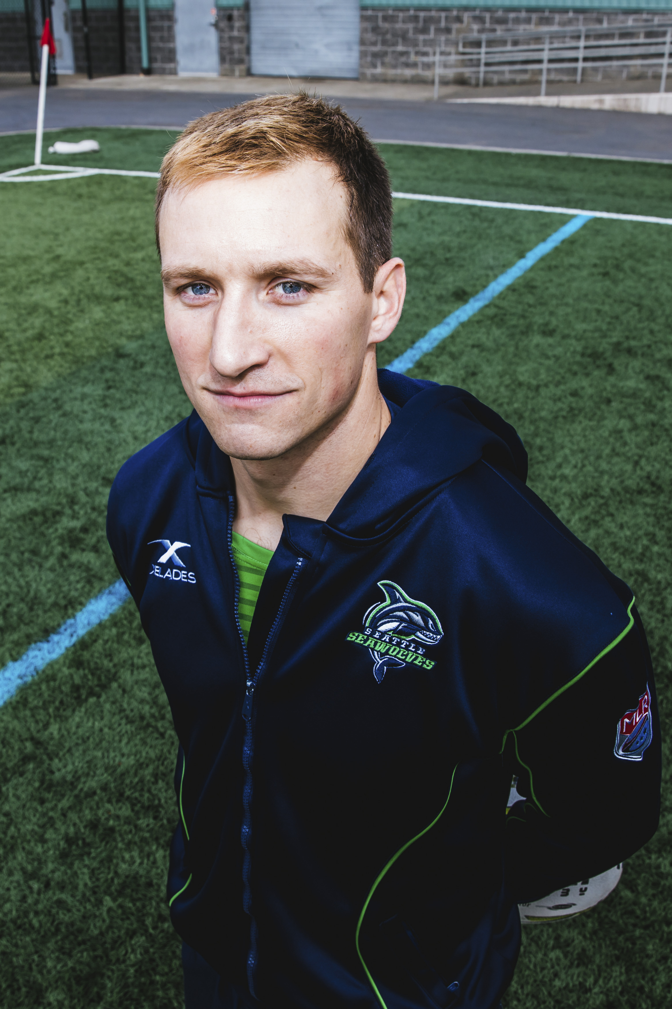 Hellllllo Peter! Peter plays Wing for the Seattle Seawolves and hails from Aurora, Illinois. The 28-year-old enjoys healthy snacks like Pop Tarts or Cosmic Brownies. (Image: Sunita Martini / Seattle Refined).