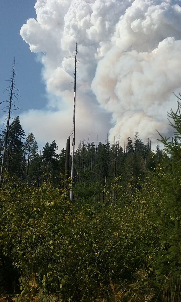 Jennifer Cutting shared this photo of the smoke as seen from Bedrock Campground.