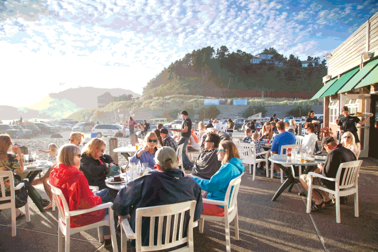Outdoor dining along the coast means delicious food and unforgettable views.