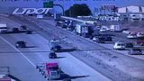 Plane lands on I-15 southbound in Riverdale, one car hit