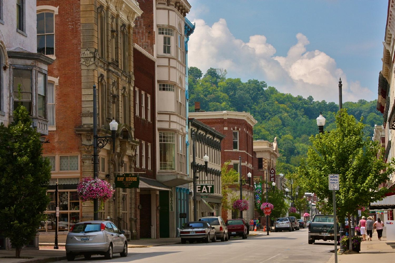 An hour away from Cincinnati, Maysville is famous for its beautiful architecture, shopping, and for being home to the Clooneys.  It's located on the edge of the outer Bluegrass region on the Ohio River. / Image: Molly Paz