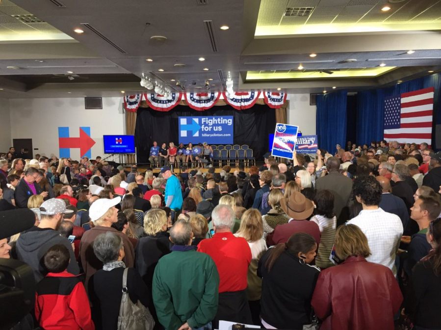Hillary Clinton event at Sun City Summerlin (Nathan O'Neal | KSNV News 3)