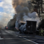 Tractor-trailer carrying meat catches fire on I-81 in Roanoke Co.