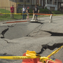 Residents concerned for their safety after sinkhole collapses in Moxham
