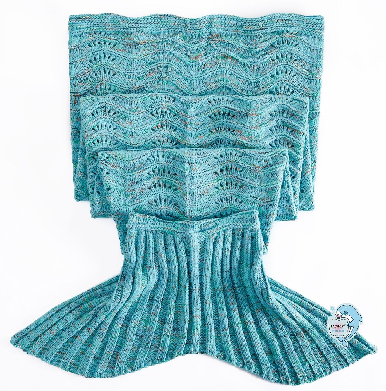 Whoa now... while this mermaid-inspired blanket is kind of like a Snuggie, perhaps a more apt description would be fairytale sleeping bag pocket. You might spend the whole trip to the fridge to re-up your snack shopping, but hey - why wouldn't you seize any chance to channel your inner Ariel? (Courtesy: Amazon)