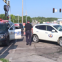 Woodbury County vehicle and Sioux City Police Car involved in accident