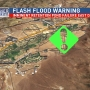 Flash flood warning in east Dayton due to imminent retention  pond failure