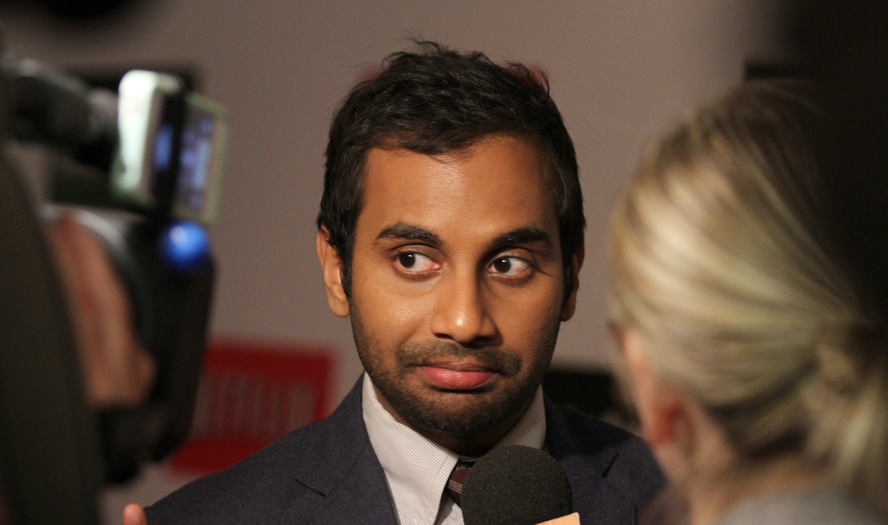 "Aziz Ansari is seen at the NY Premiere ""Aziz Ansari: Buried Alive on Wednesday, Oct. 30, 2013 in New York. (Photo by Donald Traill/Invision/AP)"