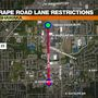 Expect lane restrictions on Grape Road starting today