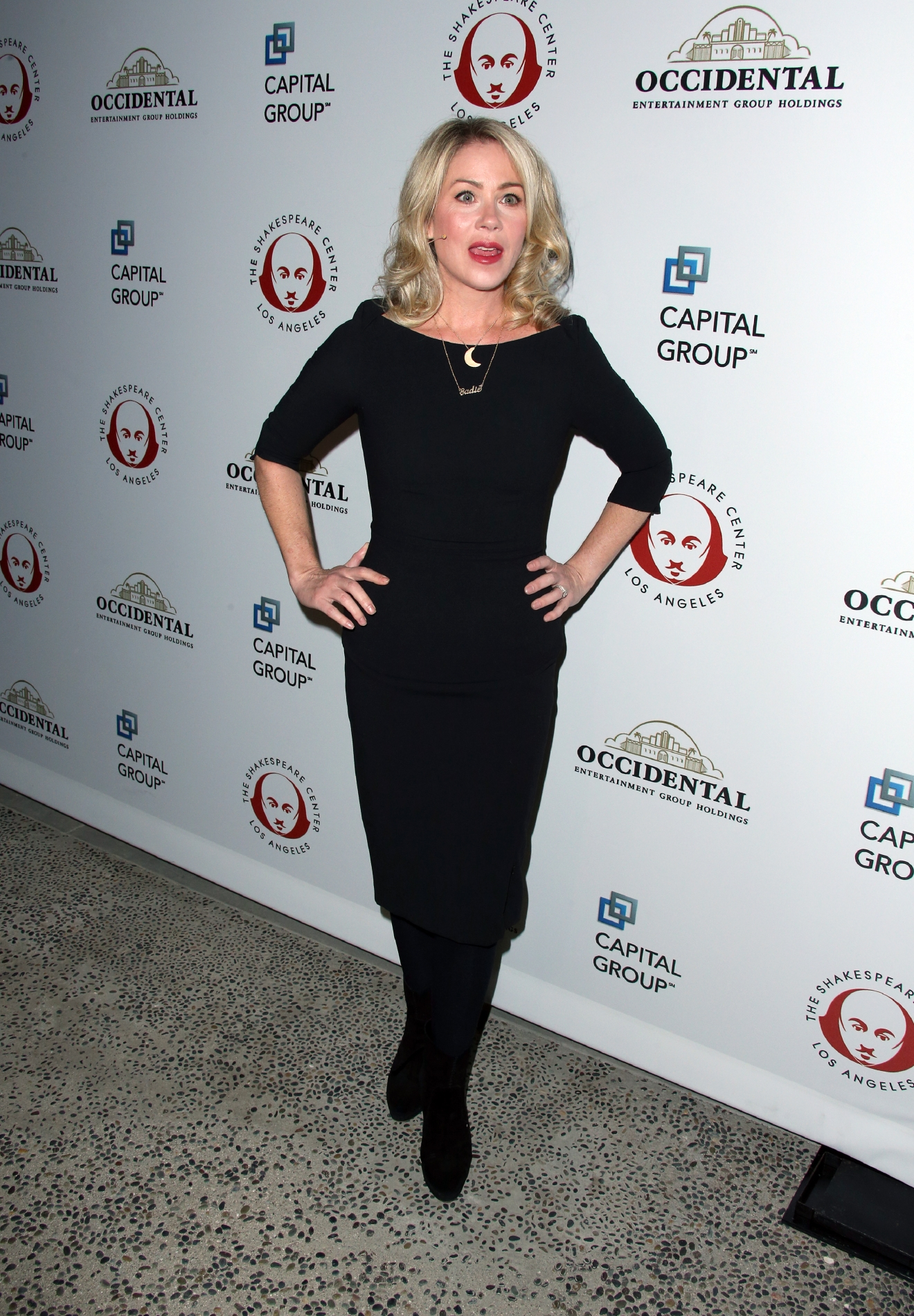 The Shakespeare Center of Los Angeles 25th Annual Simply Shakespeare Benefit at The Broad Stage - Arrivals  Featuring: Christina Applegate Where: Santa Monica, California, United States When: 08 Dec 2015 Credit: FayesVision/WENN.com