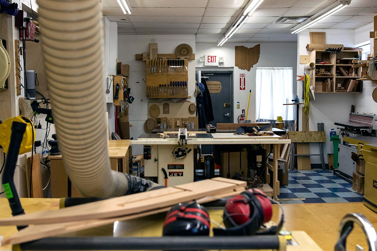 <p>Classes and workshops are held at the shop by request for woodworking beginners, learning specific tool instructions, and creating custom furniture. / Image: Allison McAdams // Published: 3.1.20</p>