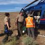 Sheriff's deputies perform helicopter rescue at White Bluffs