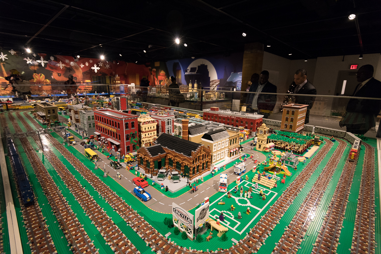 Inside the new William Mallory Sr. Gallery, a LEGO interpretation of Cincinnati is on display. / Image: Phil Armstrong, Cincinnati Refined // Published: 11.18.18