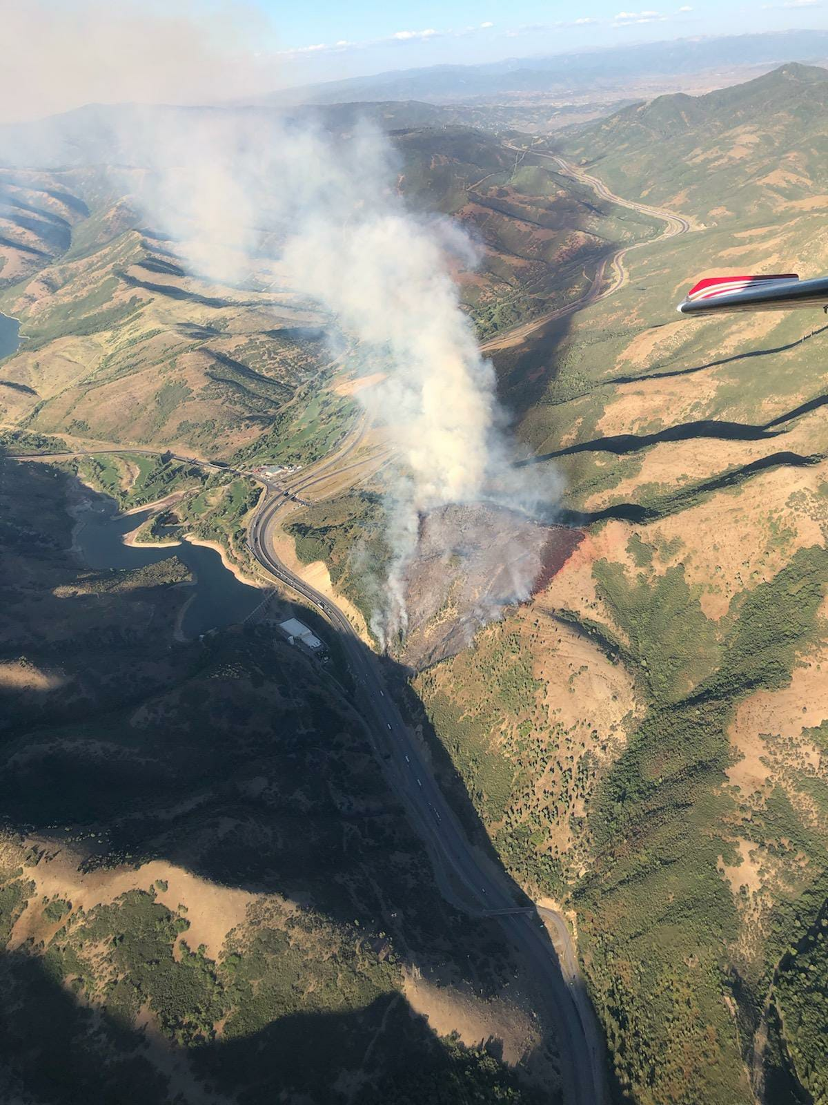 An aerial view of the 40-acres Parleys Fire from state fire officials. (Photo: Utah Fire Info)