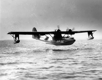 A PBY Catalina landing after a mission in the Pacific. (The Catalina Society)