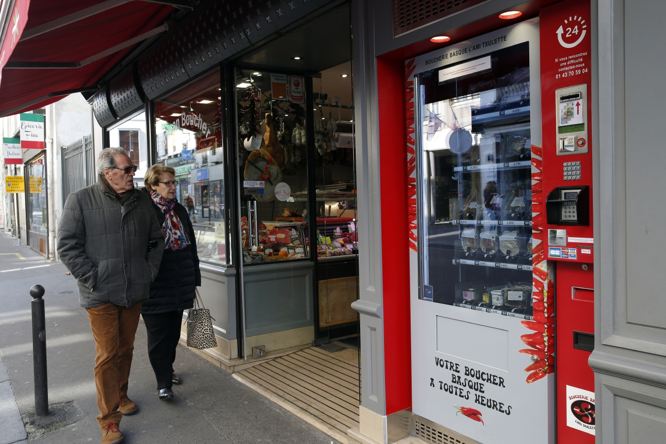 paris gets sausages and steaks 24  7 from vending machine