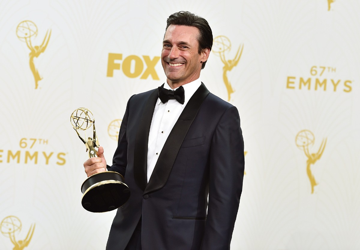 Jon Hamm With The Award For Outstanding Lead Actor In A Drama Series For  ?mad