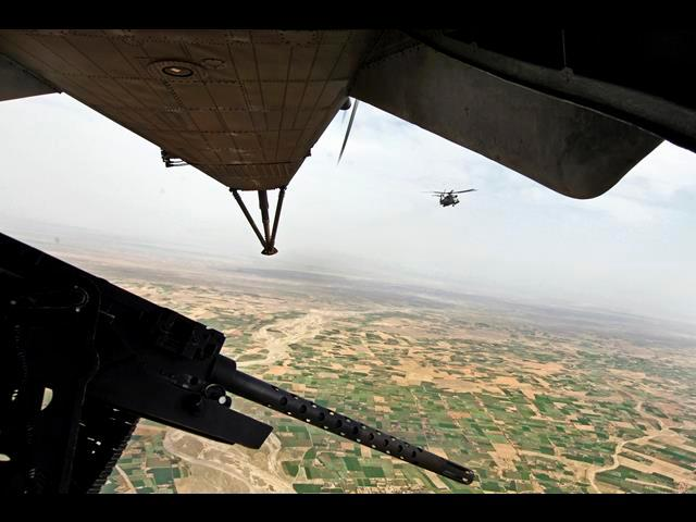 CH-53E Super Stallion helicopters fly out for an aerial reconnaissance mission over Afghanistan's Helmand province, April 2, 2014.