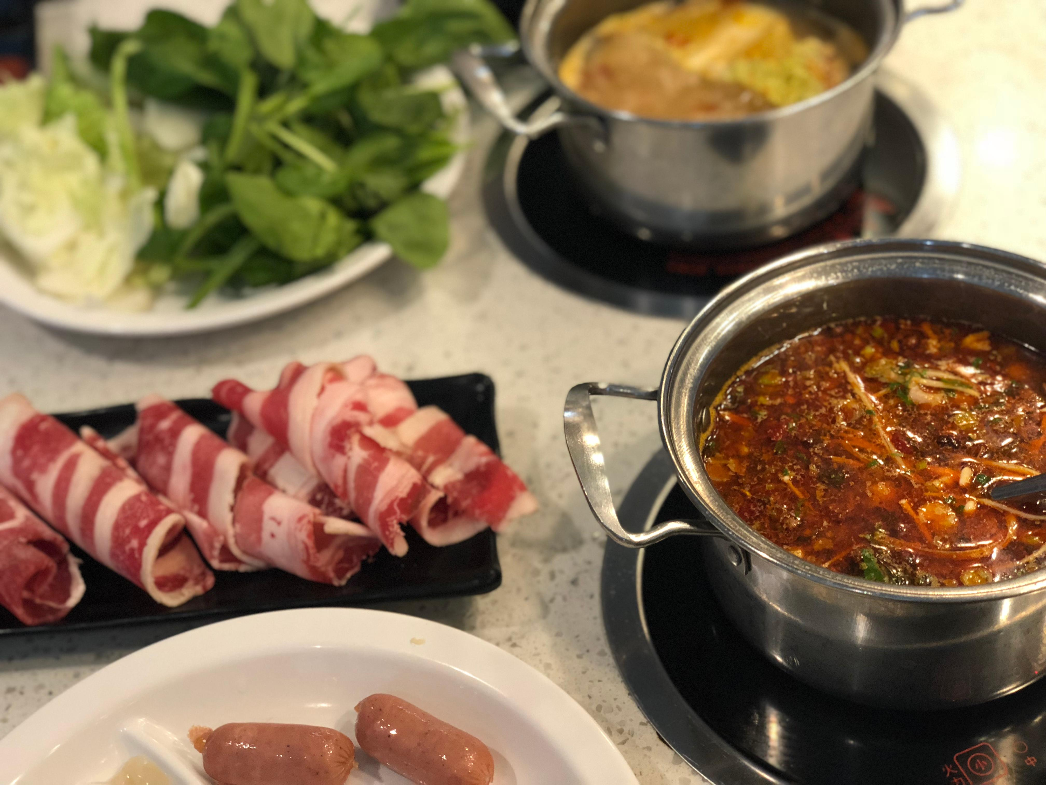 For more modern digs, try the new Urban Hot Pot, which features endless hot pot and toppings for a set fee, making it a great option for groups. (Image: Aparna Krishnamoorthy)