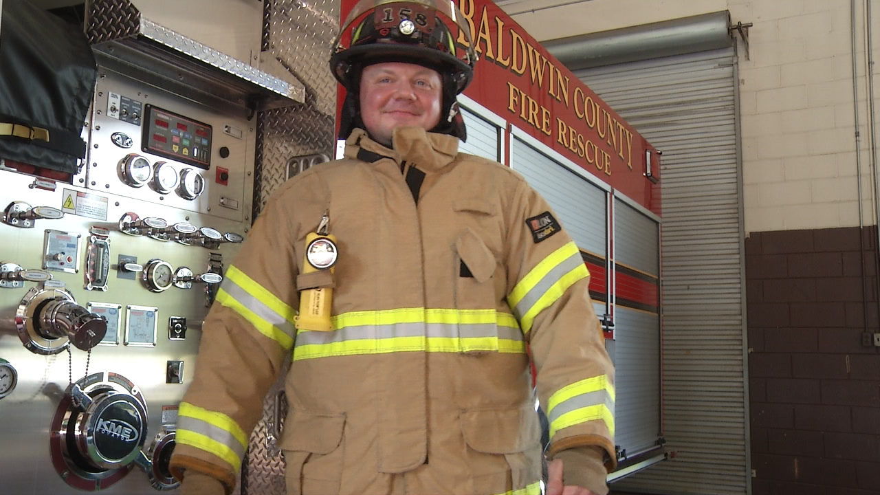Mike Dyer climbed 110 stories on a stair-stepper in a local gym in honor of the firefighters who died on Sept. 11, 2001. (WGXA/T.J. Strickler)