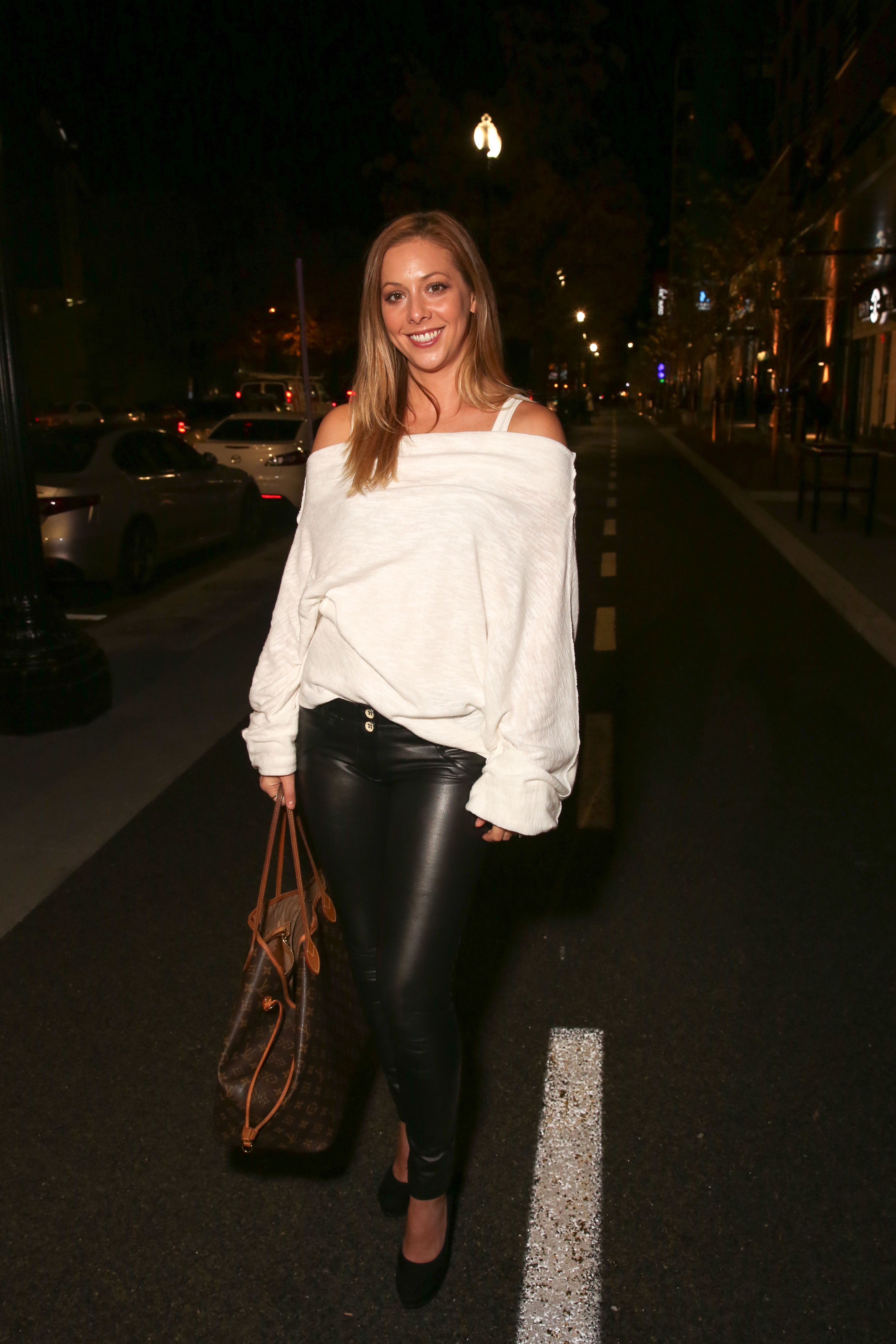 Heather Coward's leather leggings are fierce as heck.{&nbsp;}(Amanda Andrade-Rhoades/DC Refined)<p></p>