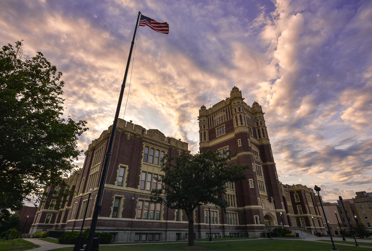 "Pictured: Hughes Stem High School from the gallery ""These 11 Historic Cincy Schools Were Built To Impress"" / Image: Phil Armstrong // Published: 12.31.17"