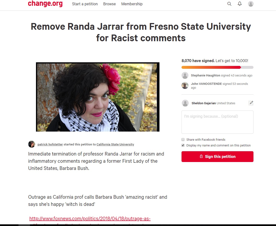 Petition started to fire Fresno State professor already has thousands of signatures