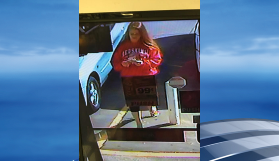 The Hurricane Police Department said it is searching for a female who they believe may have been the driver involved in a hit-and-run Sunday. Police released photos of the possible driver in a Facebook post Wednesday. (Hurricane Police Department)