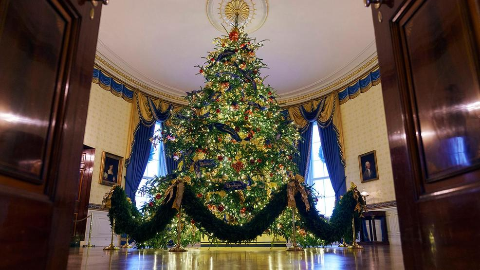 melania trump unveils white house christmas decorations wpde