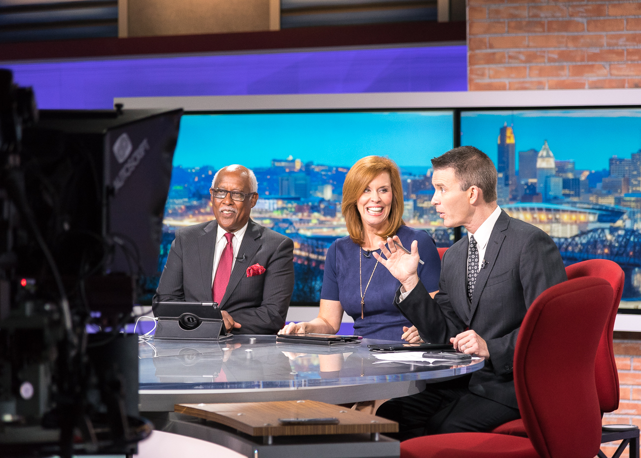 Local 12 News anchors John Lomax, Sheila Gray, and Bob Herzog / Image: Phil Armstrong, Cincinnati Refined // Published: 10.5.18