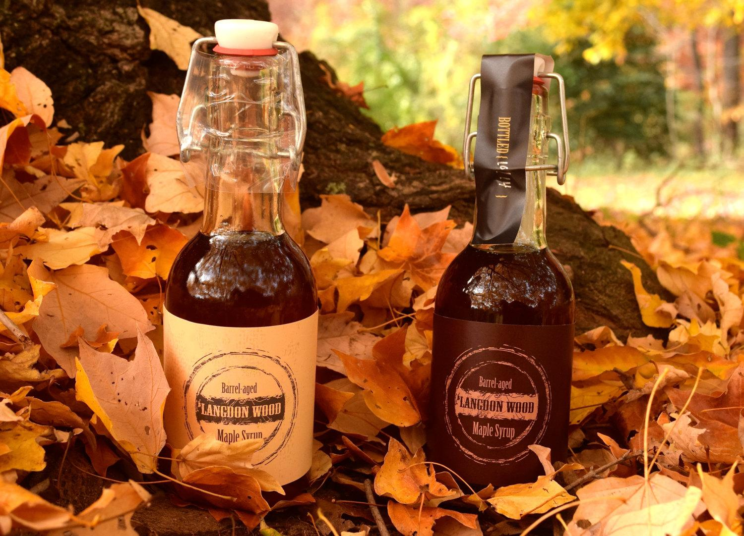 Barrel-Aged Maple Syrup from Langdon Wood // Price:{ }$15 per bottle // Buy online or at local retailers //{ }http://www.langdonwood.com // (Image: Langdon Wood)