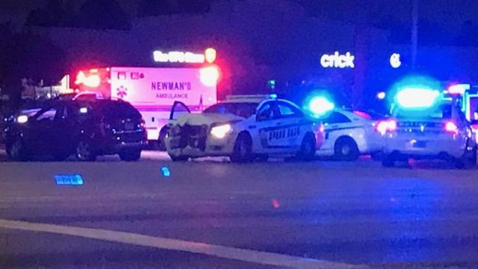 (WPMI) Mobile police vehicle involved in crash on Airport Blvd.