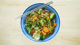 In the Kitchen: Yakisoba Noodles with Vegetables