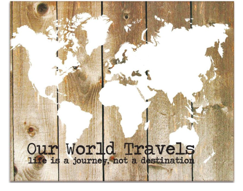 CATHY'S CONCEPTS 'Our World Travels' Canvas Wall Art ($75). Find on nordstrom.com. (Image courtesy of Nordstrom)