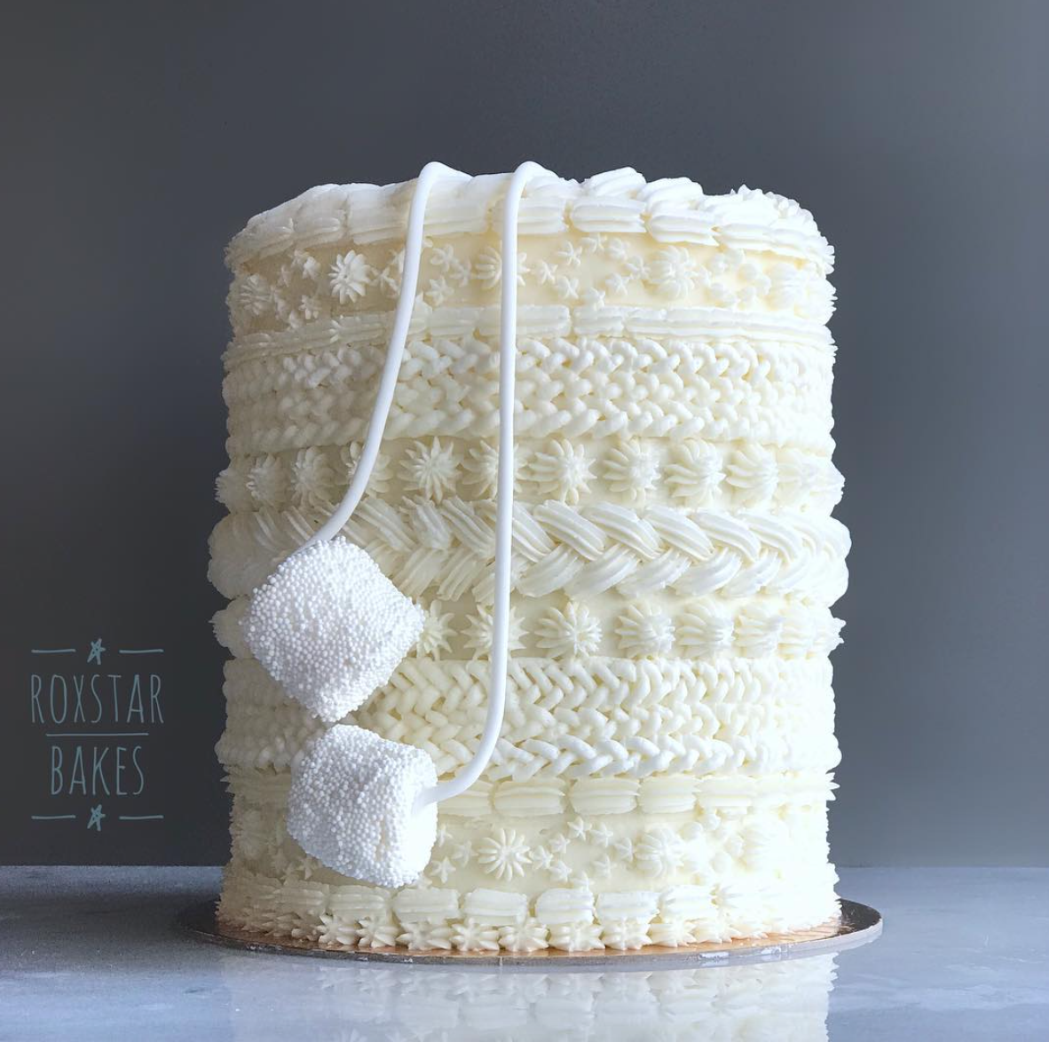 Buttercream Sweater Cake by Rox Star Bakes (Credit: Rox Star Bakes)