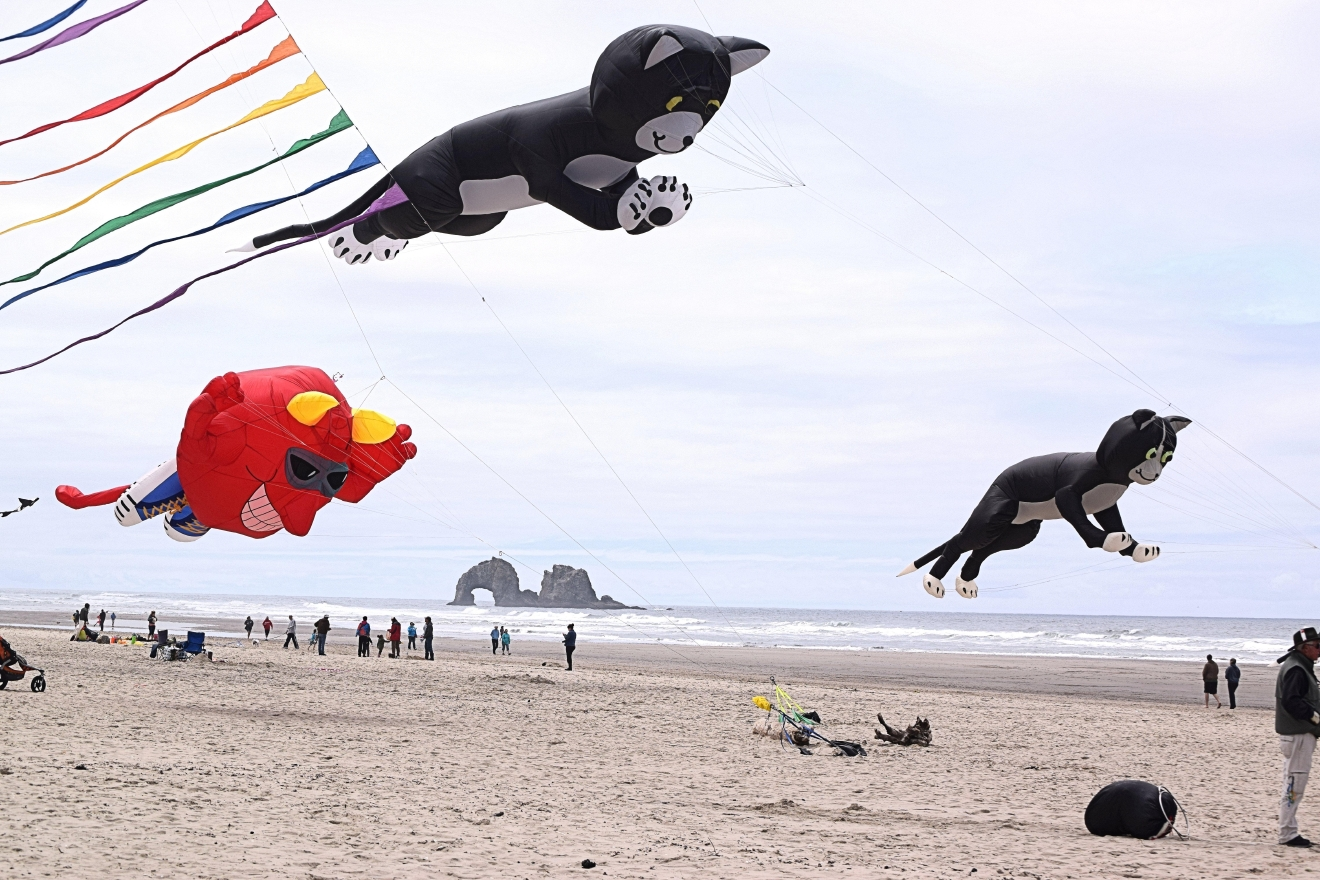 Tillamook has lovely beaches – go enjoy the surf and sand or try flying a kite! Photo Credit: Visit Tillamook Coast