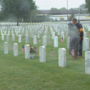 Mother and son visit spouses together at Chattanooga National Cemetery