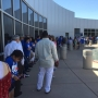 Hundreds of supporters gather in Albuquerque to hear President Bill Clinton speak