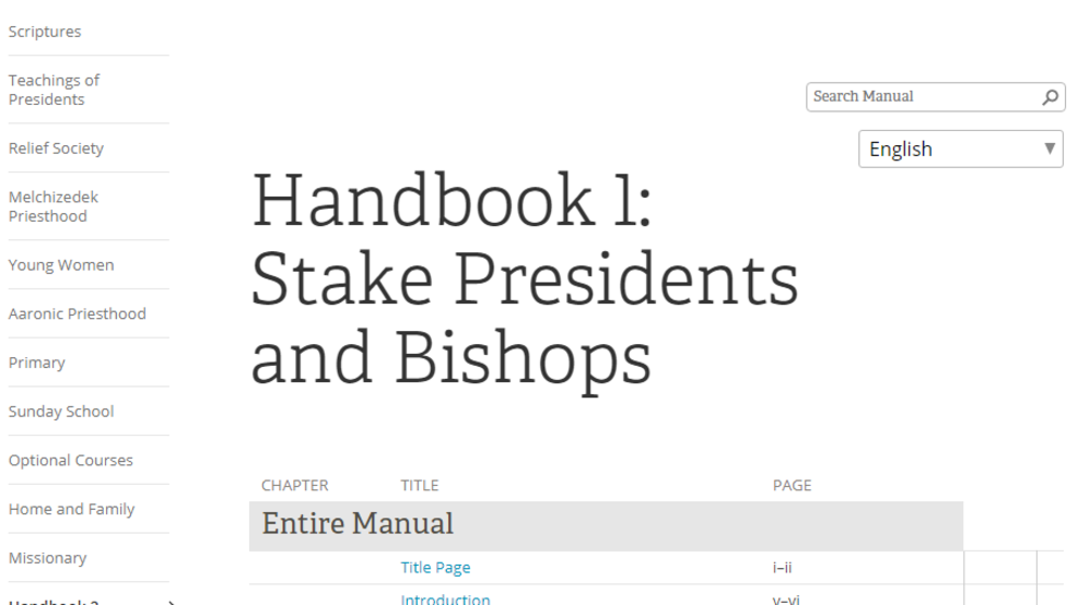 Lds Church Publishes Previously Restricted Manual For Church Leaders