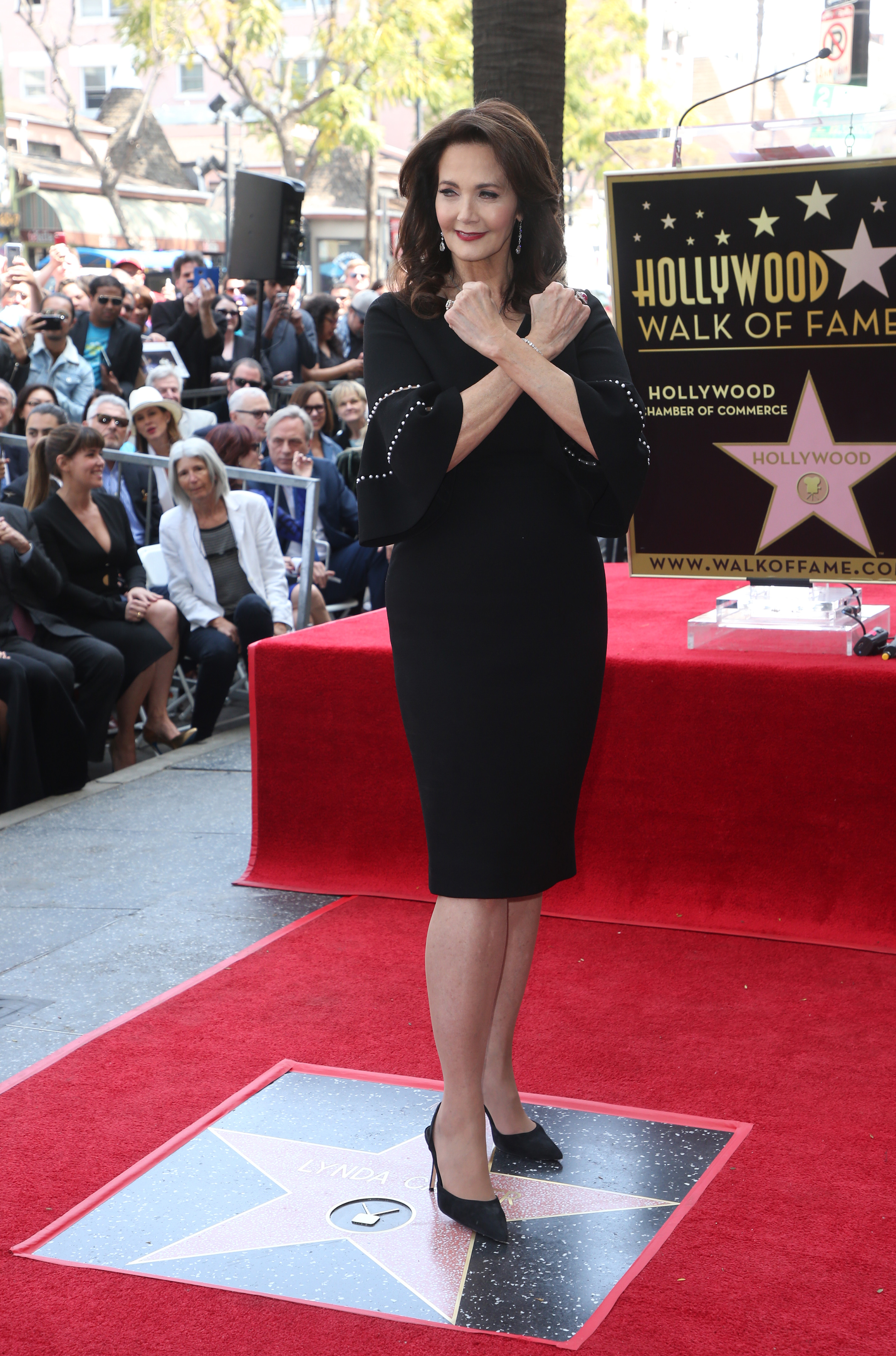 Lynda Carter Honored With Star On The Hollywood Walk Of FameFeaturing: Lynda CarterWhere: Hollywood, California, United StatesWhen: 03 Apr 2018Credit: FayesVision/WENN.com