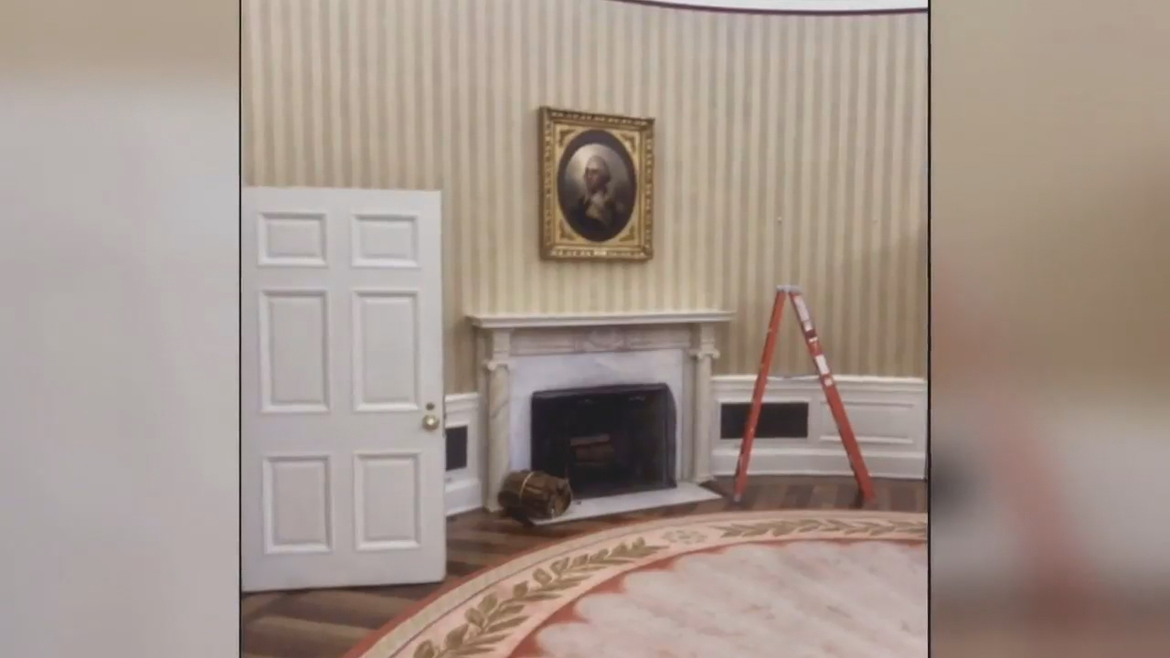 White House undergoes $3.4 million renovation. (White House photo)