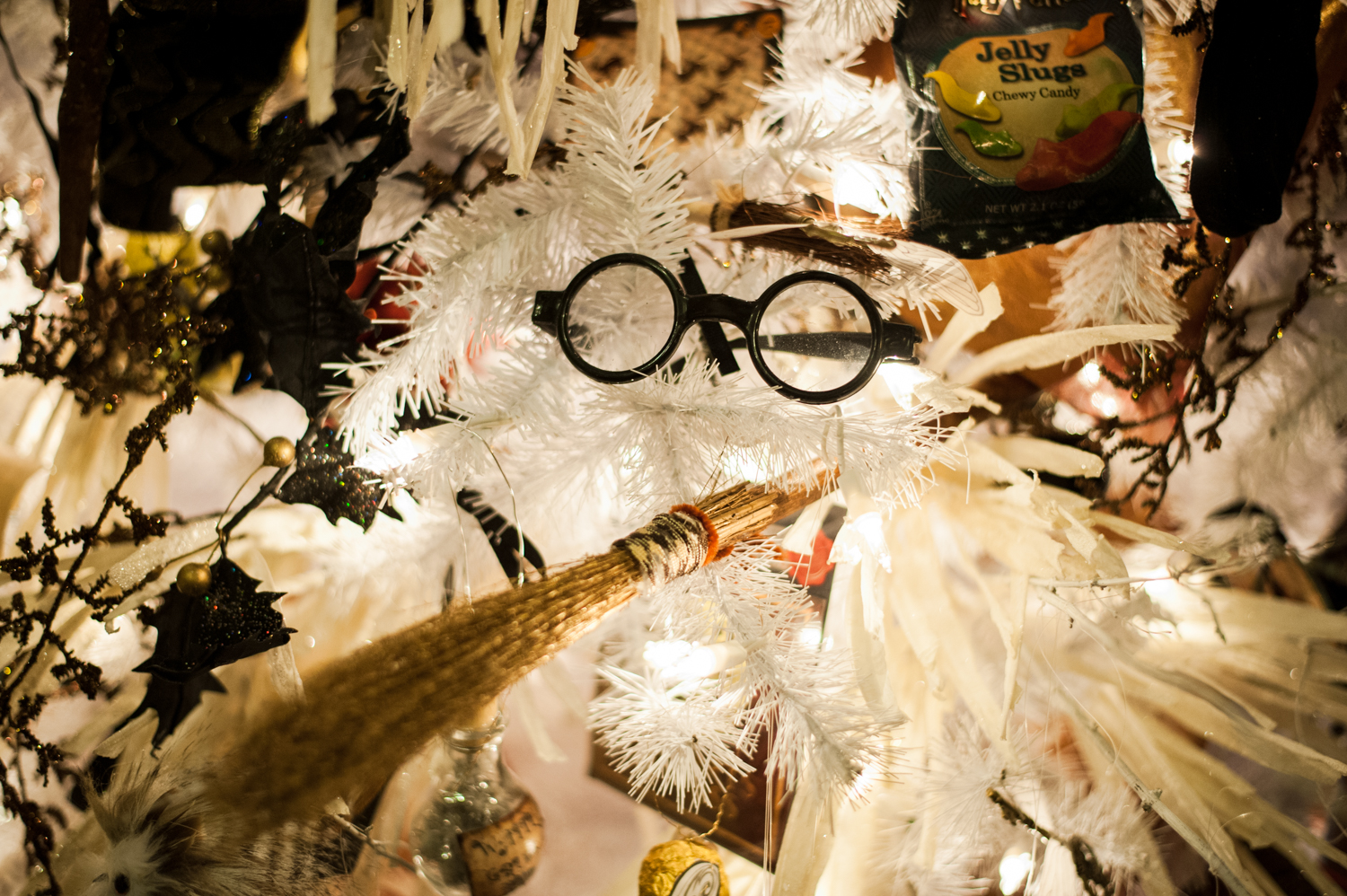 Holidays with Harry Tree - 9 feet tall, loaded with Harry Potter memorabilia. Located in the Fairmont Olympic Hotel in downtown Seattle, the annual Festival of Trees has officially kicked off this holiday season. Patrons can view the trees on display through December 2, 2018 - or bid on them for their home/office. Proceeds benefit Seattle Children's Hospital. (Image: Elizabeth Crook / Seattle Refined)