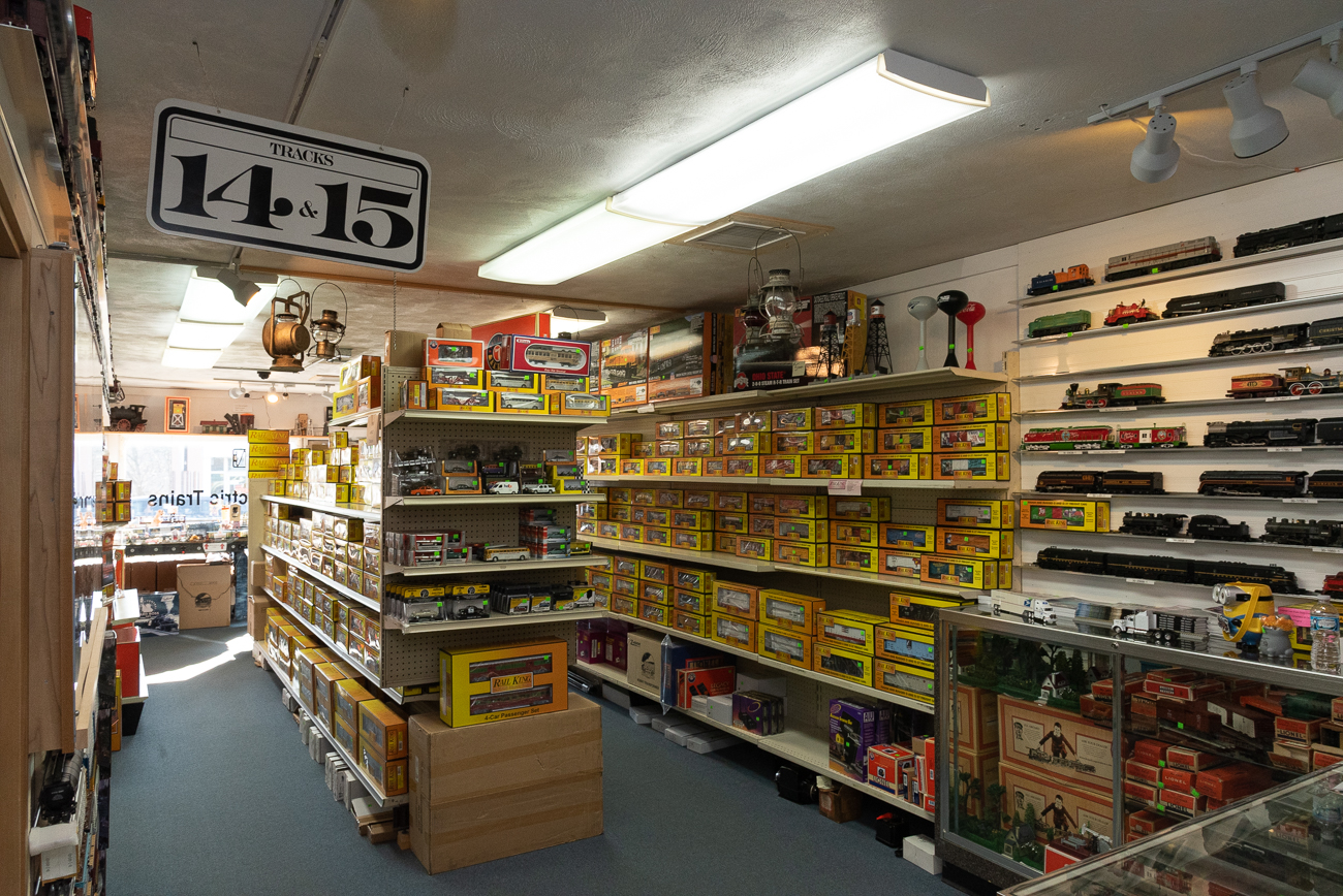 Owner Rocky Lane has an extensive knowledge of hobby trains. Through the years of running the store, he's kept costs down in order to provide lower prices to his customers. / Image: Phil Armstrong, Cincinnati Refined // Published: 2.27.20
