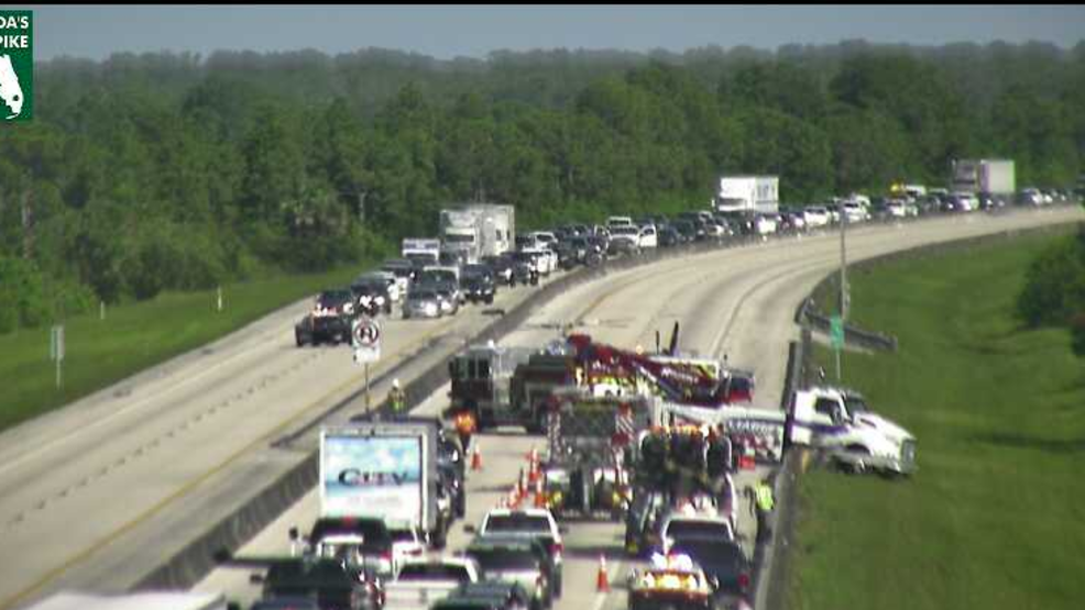 Accident Blocks All Lanes On Florida Turnpike In Martin