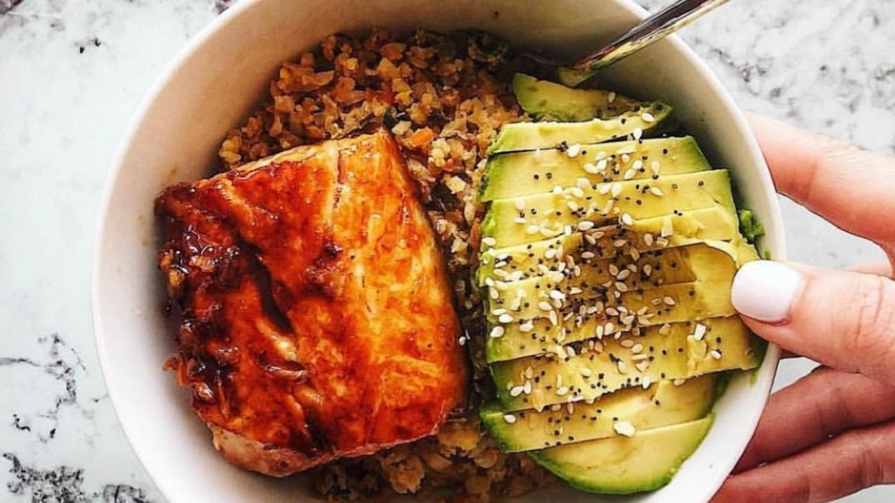 Salmon{ }/ Image courtesy of Fit Mama in 30 // Published: 6.15.19
