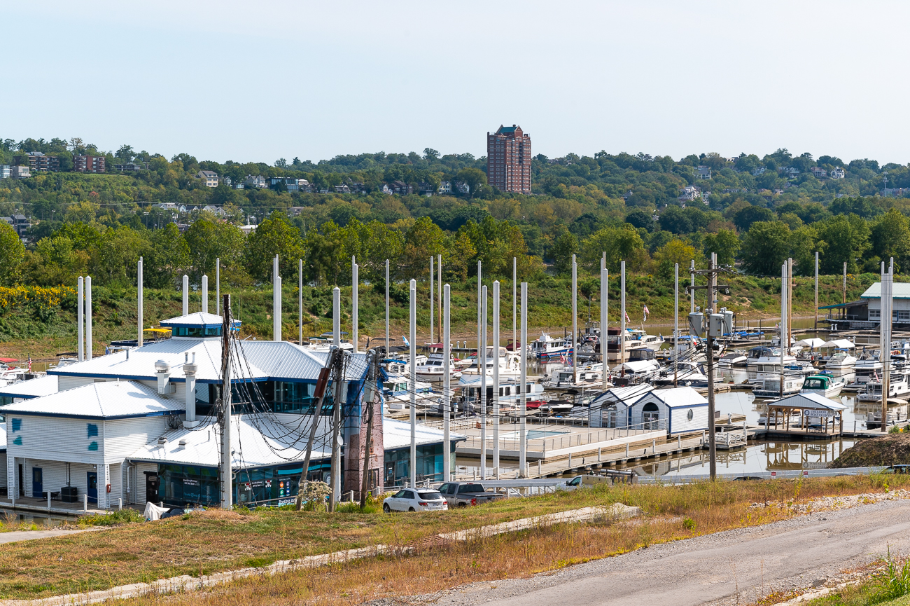 The Manhattan Harbour Marina is usually filled with many docked boats. / Image: Phil Armstrong // Published: 9.27.20
