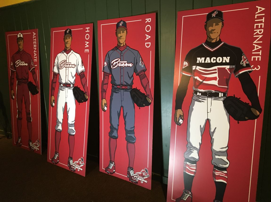 The newest Macon baseball team name was announced as Macon Bacon on Thursday / Carlos Stephens (WGXA)